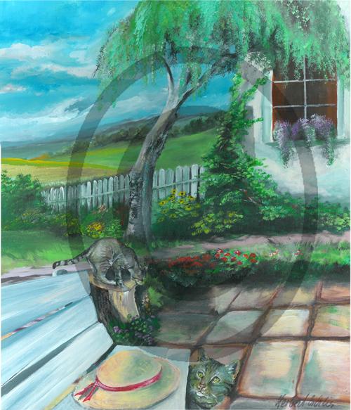 Das-Original-in-Acryl-Garten001A-70-x-60-cm-Leinwandbild-1998